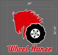 LARGE 24 INCH WHEEL HORSE LOGO DECAL