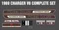 1969 CHARGER V8 AUTOMATIC DECAL SET