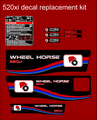 WHEEL HORSE 520XI ALTERNATIVE DESIGN REPLACEMENT DECAL COMPLETE SET