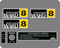 MONTGOMERY WARD 8 DECALS