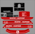 1984  GT1600 TWIN 8 SPEED  WORKHORSE  BY WHEEL HORSE TRACTOR DECAL SET
