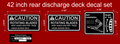 42 INCH REAR DISCHARGE DECK DECAL SET