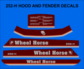 252-H 1988 maroon stripe decal set