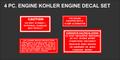 KOHLER FOUR PC REPRODUCTION ENGINE  DECAL SET