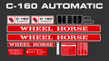 WHEEL HORSE C-160 AUTOMATIC DECAL KIT