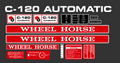 WHEEL HORSE C-120 AUTOMATIC DECAL KIT