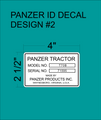 PANZER ID TAG DECAL  DESIGN 2