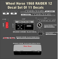 1968 RAIDER 12 COMPLETE DECAL SET