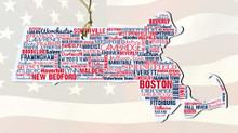 MassachusettsWooden State Ornament