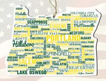 OregonWooden State Ornament