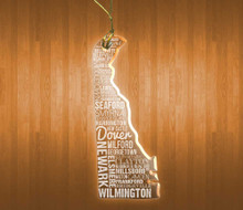 DelawareAcrylic State Ornament