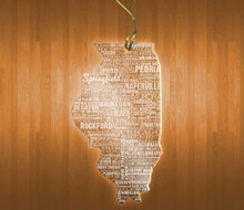 Illinois Acrylic State Ornament