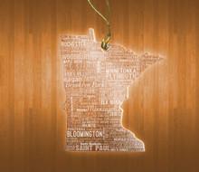 MinnesotaAcrylic State Ornament