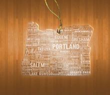 OregonAcrylic State Ornament