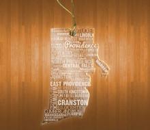 Rhode IslandAcrylic State Ornament