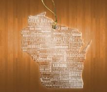 WisconsinAcrylic State Ornament