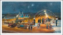 "Nutcracker Village Canvas: ""Making Christmas Memories"" by Dave Barnhouse"