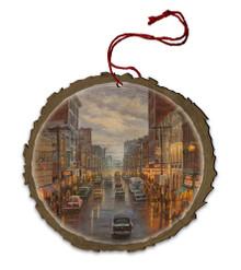 A Capital Night in Wheeling Wood Ornament