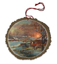 Back Home Again Wood Ornament