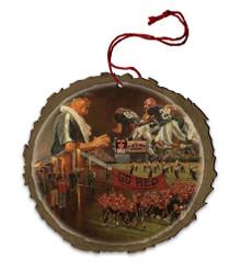 Big Red Wood Ornament