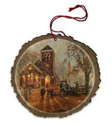 Old Fashioned Hayride Wood Ornament