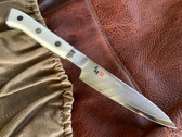 MCUSTA ZANMAI Petty Utility - Damascus Clad with Corian Handle