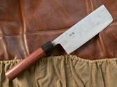 Teruyasu Fujiwara Nishiji Nakiri Knife 150mm - Rosewood