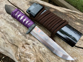 "Saji Rainbow Aogami ""Bushi"" Model Camp Knife"