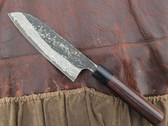 Ogata Santoku Knife 170mm - Damascus-Clad Shirogami #2