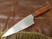 "Parkinson Chef Knife - 5.7"" 1084 & Mahogany  420"
