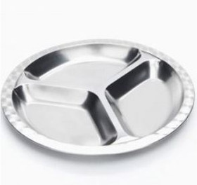 Onyx divided stainless steel plate (small)