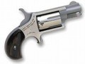 """NORTH AMERICAN ARMS MINI-REVOLVER 22 LR 1-1/8"""" with Skeleton Holster -USED"""