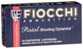FIOCCHI PISTOL SHOOTING 380 ACP FULL METAL JACKET 95 GR 50BOX-380AP
