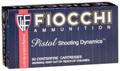 FIOCCHI PISTOL SHOOTING 380 ACP FULL METAL JACKET 95 GR 50BOX-380AP