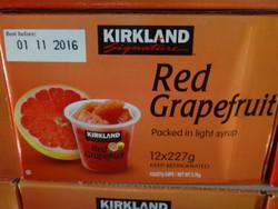 Kirkland Signature Red Grapefruit Cups 12 x 227G | Fairdinks