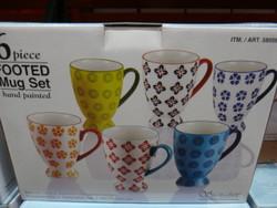 Signature Footed Mugs 6 Piece   Fairdinks