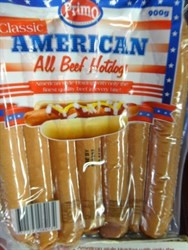 Primo American Beef Hot Dog 900g | Fairdinks