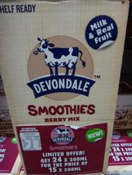 Devondale Smoothies Berry Mix 15 x 200ML   Fairdinks