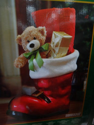 Resin Santa Boot With Metallic Finish - 1 | Fairdinks