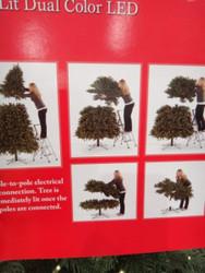 9 Foot Artificial Christmas Tree Pre-Lit 2 Tone LED 1050CT   Fairdinks