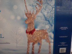 """65"""" Champagne String Stag With 10 Meter Lead Outdoor 240 LED lights   Fairdinks"""