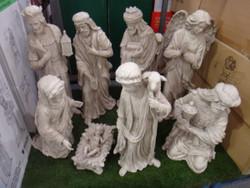 Outdoor Nativity Set Stone Finish 2 Boxes - 4   Fairdinks