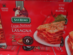 San Remo Lasagne Sheets 6 x 250G   Fairdinks