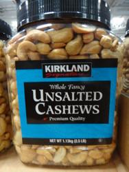 Kirkland Signature Unsalted Cashews 1.13KG   Fairdinks