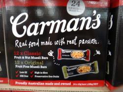 Carman's Muesli Bars Classic & Original Mixed Pack 24 x 45G | Fairdinks