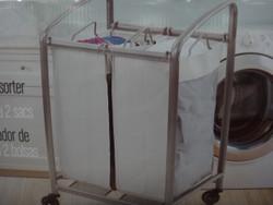 Seville Classics 2 Bag Laundry Sorter With Wheels - 1 | Fairdinks