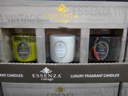 Essenza Vintage Glass Jar Candles 3 Pack - 1 | Fairdinks