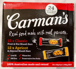 Carman's Bars Yogh/Apr & Choc/Cranberry 24 x 35g | Fairdinks
