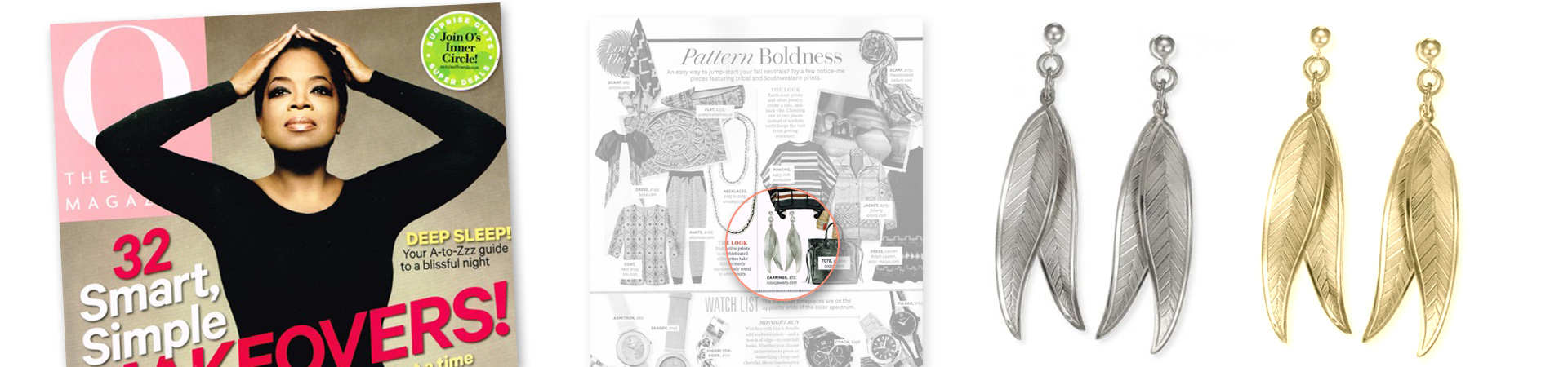 Double Feather Earring As Featured in Oprah Magazine