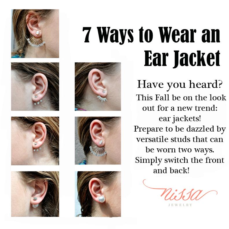Ways to wear an ear jacket nissa jewelry